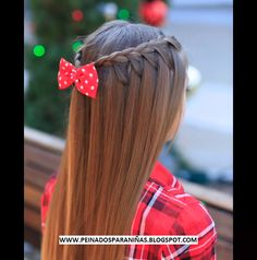 M TRENZAS PARA NIÑAS - PEINADOS PARA NIÑAS - PEINADOS INFANTILES PARA MUJERCITAS, CORTES DE NIÑA Fancy Hairstyles, Little Girl Hairstyles, Braided Hairstyles, Reverse French Braids, Baby Girl Hair, Hair Dos, Hair Hacks, Short Hair Styles, Hair Makeup