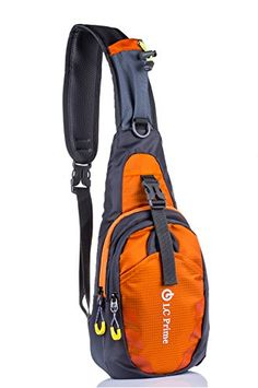 11248f58a4a Take a Look  LC Prime Sling Bag Chest Shoulder Unbalance Gym Fanny Backpack  Sack Satchel Outdoor Bike nylon fabric orange 1