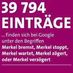 """Google-Suchergebnisse für """"Merkel bremst""""."""