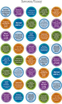 Sarcasm Funny 1 inch circle/25mm Bottle Cap by BehindTheDoor