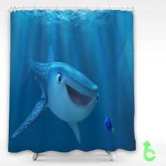 Cheap finding dory nemo shark fish pixar animation Shower Curtain