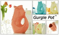 """on my list of things i want one day """"Gurgle Pot"""" produces a whimsical gurgling sound when pouring"""