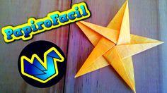 Origami Facil    Como hacer una estrella de 5 puntas - YouTube