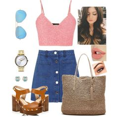 Basic by smilebehappy0 on Polyvore featuring polyvore fashion style maurices Miss Selfridge River Island Banana Republic Nixon Accessorize Ray-Ban