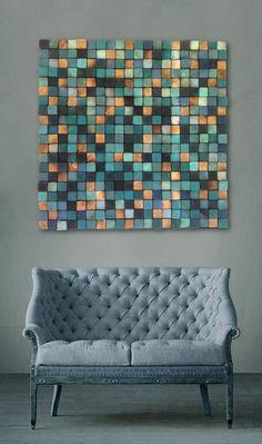 Mozaika drewniana : Dekoracje ścienne od DrewnianaŚciana