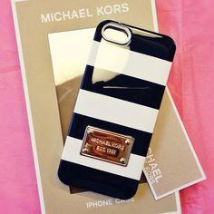michael kors striped phone case