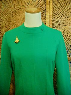 Vintage 1960s Mod Dress-Bleeker St. Brand-Mod Mini-Bright Green. $30.00, via Etsy.