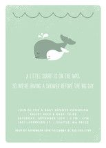 The Arrival of a Little Squirt Baby Shower Invitation