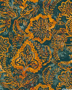 Garden Path Batik - Temple Blossoms from the 'Tonga' collection by Timeless Treasures