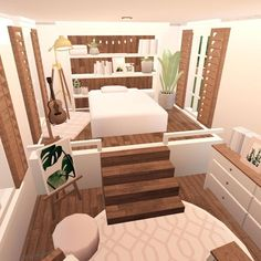 Home Room Design, Home Building Design, House Design, Tiny House Layout, House Rooms, Sims House Design, Sims 4 House Design, Aesthetic Bedroom, Small House Design Plans