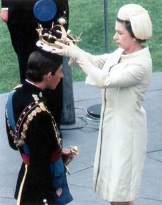 The investiture of Prince Charles as The Prince of Wales at Caenarfon Castle, Wales in 1969.