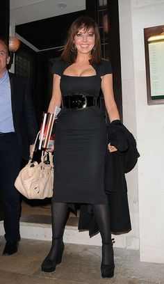 Carol Vorderman leaving 34 Restaurant on May 2012 in London, England. Curvy Women Outfits, Clothes For Women, Carol Vorderman, Kimberley Walsh, 70s Fashion, Womens Fashion, Nylons And Pantyhose, Celebrity Outfits, Hot Dress