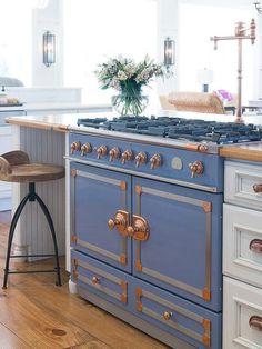 Blue La Cornue Kitchens