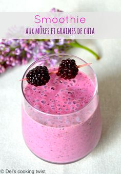 Smoothie Recipes 810296157929517212 - (English) This healthy purple colored blackberry smoothie is loaded with antioxidants and superfoods thanks to both red berries and chia seeds. Use dairy or non-dairy milk as you like it. Source by stephanesordello Smoothie Drinks, Healthy Smoothies, Smoothie Recipes, Detox Drinks, Shake Recipes, Juice Recipes, Chia Seed Smoothie, Blackberry Smoothie, Blackberry Recipes