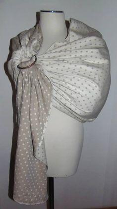 Fascia ring porta bebè realizzata con il nostro tessuto twill pois grigi http://www.radicifabbrica.it/prodotto/tessuto-saia-batavia-doubleface-pois-grigio-e-panna/ da Elena Manganaro di https://www.facebook.com/cucitoadarte.cucitoadarte