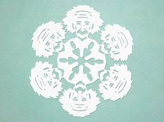 Einstein snowflake - click through for other scientist snowflakes!