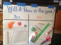 Find things around your class/house and test them out by blowing on them. Weather Activities Preschool, April Preschool, Kindergarten Science, Stem Preschool, Kindergarten Addition, Cool Science Experiments, Science For Kids, Science Projects, Science Inquiry