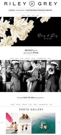 Riley & Grey wedding websites - http://www.rileygrey.com/invites/weddingchicks?utm_source=weddingchicks&utm_medium=pinterest&utm_campaign=novemberdecember20