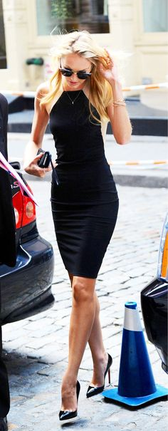 Shop the Look: Candice Swanepoel's Little Black Dress