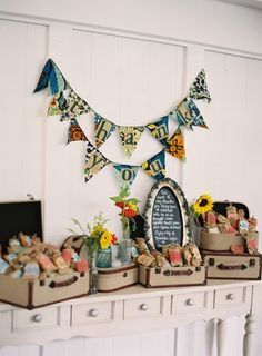 Colorful and spunky favor display! Crushing on this one and that adorable bunting! African Artful Wedding at Historic Cedarwood Nashville Wedding Venues, Wedding Vendors, Our Wedding, Kenyan Wedding, Places To Get Married, Welcome Gifts, Deco Mesh Wreaths, Event Design, Elegant Wedding