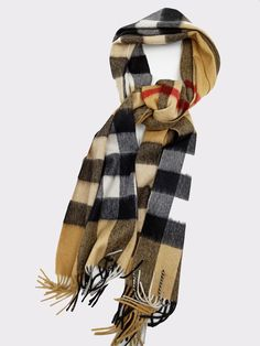 7780040e3060a Burberry Giant Check Cashmere Scarf Camel Unisex 168x30 #fashion #clothing  #shoes #accessories #womensaccessories #scarveswraps (ebay link)