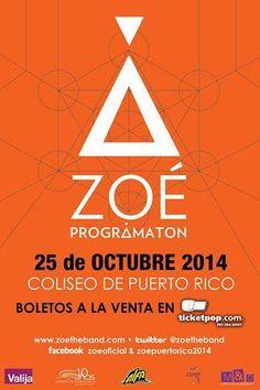 Zoé: Programatón @ Coliseo de Puerto Rico, Hato Rey #sondeaquipr #zoe #programaton #coliseopr #choliseo #hatorey #sanjuan