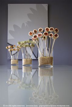 #papercraft #wedding #buffet items pinwheel appetizer bouquets by Paper, Plate and Plane