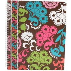 Vera Bradley Notebook With Pocket ($14) ❤ liked on Polyvore featuring home, home decor, stationery, school, accessories, lola and office & school supplies