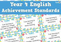 English Achievement Standards - Yr4