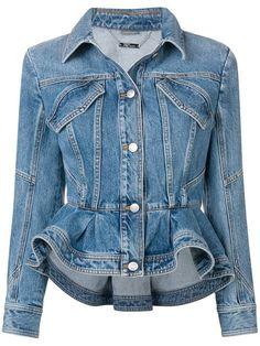 Miss sixty Puff Sleeve Denim Jacket in Blue (denim)  b6db5f2de