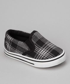 Take a look at this Black Plaid Joe-25I Slip-On Shoe on zulily today!