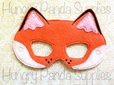 Fox Mask Embroidery Design, fox mask, machine embroidery, ITH mask, in the hoop mask, embroider mask, 5x7, 6x10, halloween costume