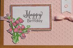 Designs by Dragonfly: Birthday Card ~ Pink Bells {2nd Post}