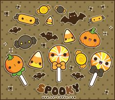 Cute Halloween candies kawaii so cute