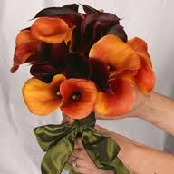Calla nosegay. Just gorgeous.