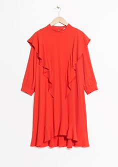 & Other Stories | Frilled dress in Orange