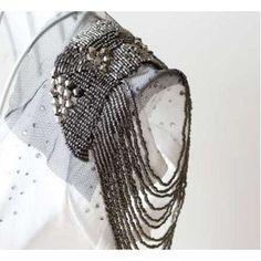 shoulder+jewelry+images   Epaulette shoulder jewelry studded brooch FROM PARIS WITH LOVE! broche