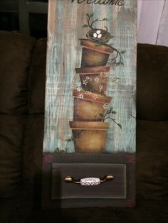 Pintura Country, Arte Country, Country Crafts, Stencils, Stencil Art, Simple Acrylic Paintings, Easy Paintings, Tole Painting, Painting On Wood