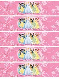 Disney Princess Water Bottle Labels Digital By Nradesigns On Etsy