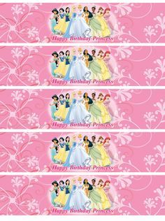 Disney Princess Water Bottle Labels Digital By Nradesigns On Etsy
