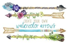 Create Your Own Watercolor Arrows by Digital Press Creation on @creativemarket