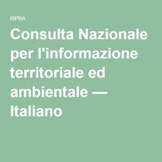Consulta Nazionale per l'informazione territoriale ed ambientale — Italiano