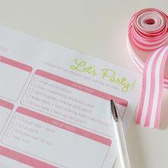 Free Printable Birthday Party Checklist {Birthday Party Checklist}