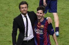 Luis Enrique mejor entrenador y Leonel Messi mejor Jugador del 2015