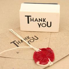 """Thank You"" Rubber Stamp - Stamps & Seals - Boxes, Bags & Wrap - Pipii"