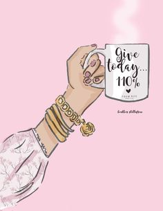 Give – Coffee Art – Coffee Lovers quotes – Spring Art – Cherry Blossoms – Coffee Art – Heather Stillufsen – Famous Last Words Positive Thoughts, Positive Quotes, Motivational Quotes, Inspirational Quotes, Illustration Mode, Illustrations, Rose Hill Designs, Spring Art, Girly Quotes