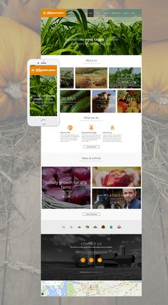 Agriculture Responsive Moto CMS 3 Template #56002