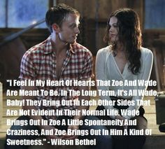 Rachel Bilson and Wilson Bethel | True Love Never Dies, Wilson Bethel On Zoe And Wade...