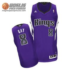 Canotte nba Swingman Gay #8 porpora Sacramento Kings
