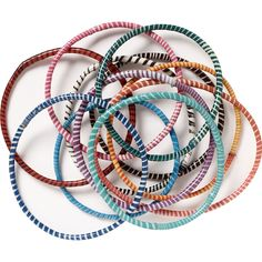 flip flop bracelets :: made from recycled flip flop materials by a fair trade company in south africa